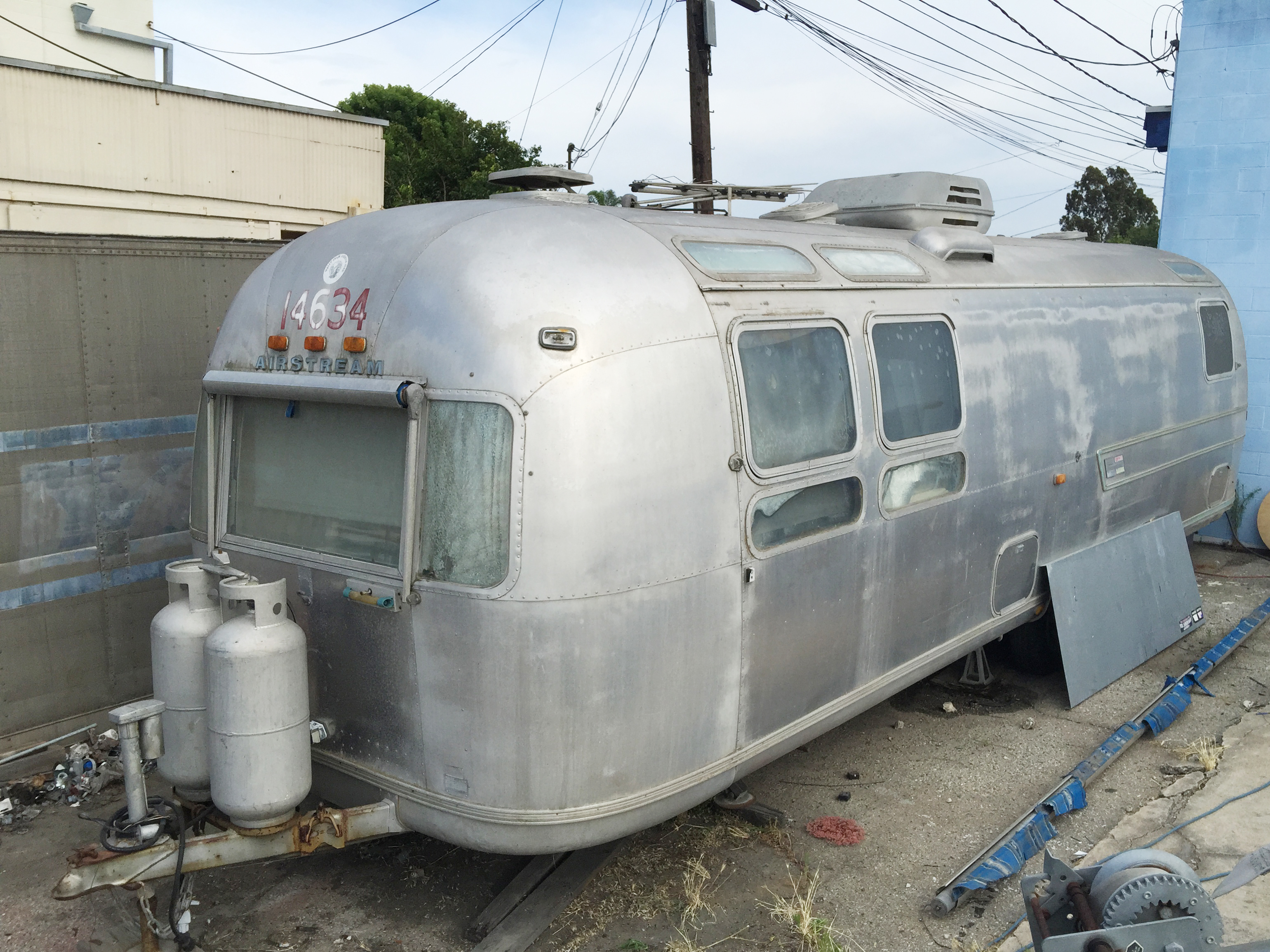 1976 Land Yacht Sovereign Airstream Renovation in Orange County, California.