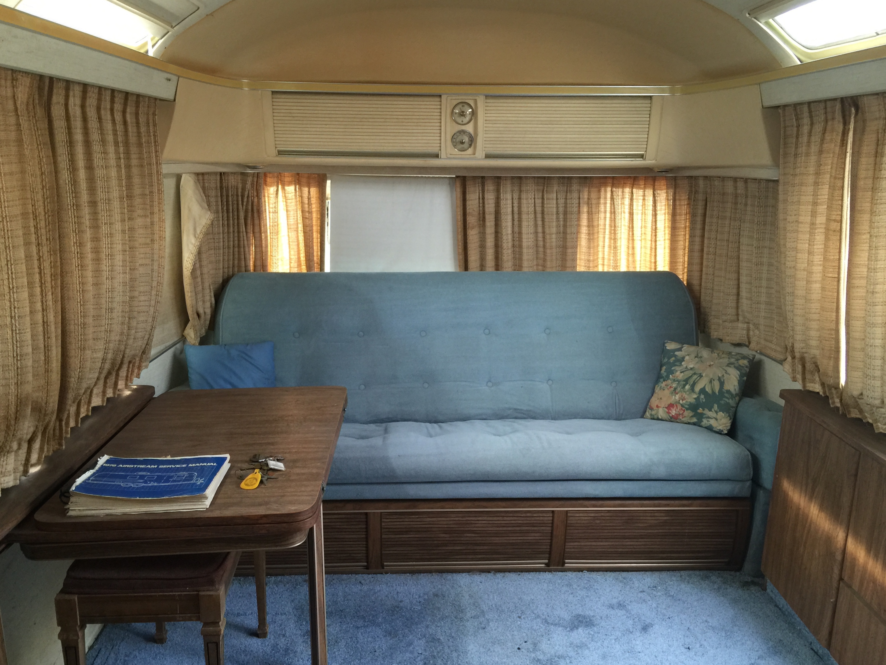 1976 Land Yacht Sovereign Airstream in Orange County, California.