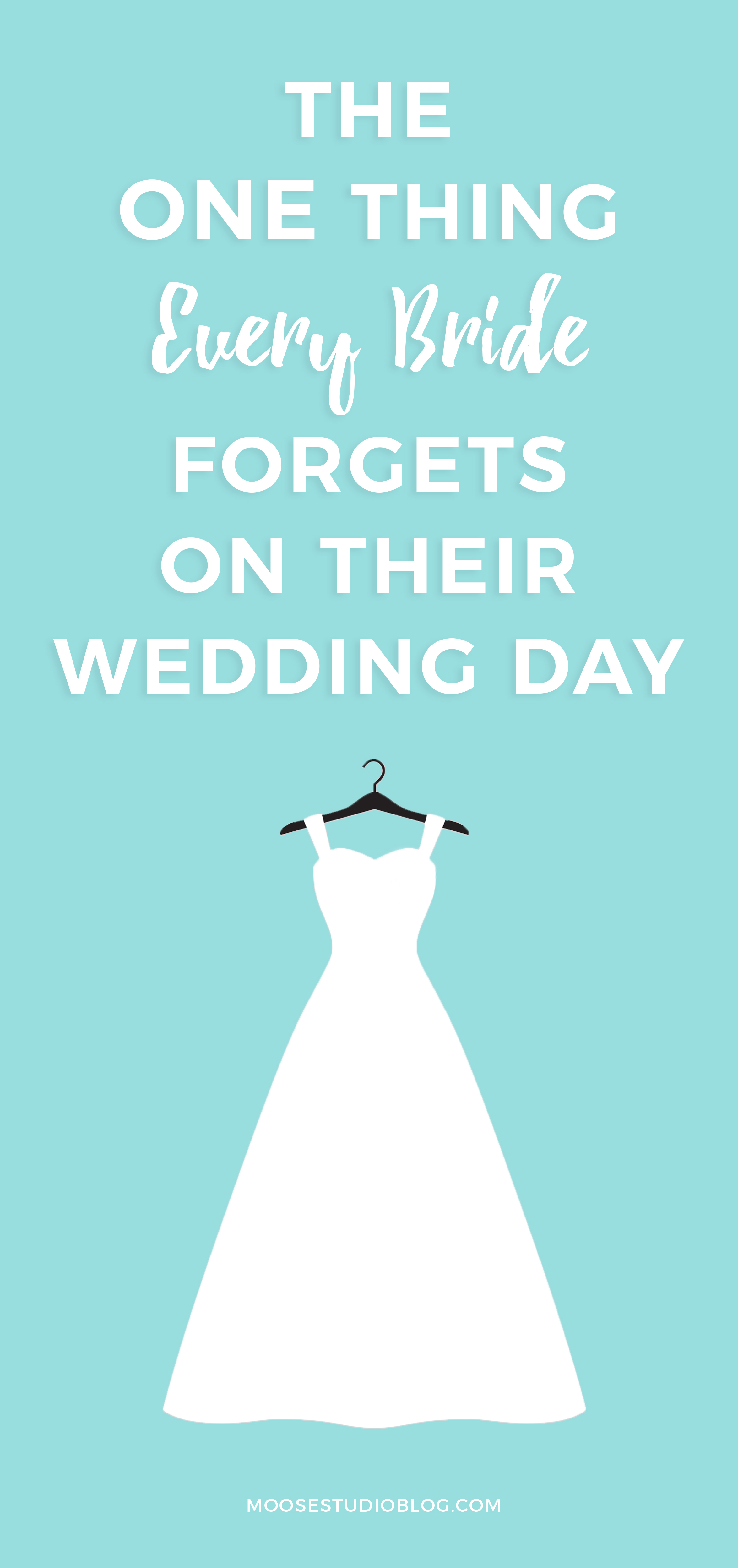 The One Thing Every Bride Forgets On Their Wedding Day