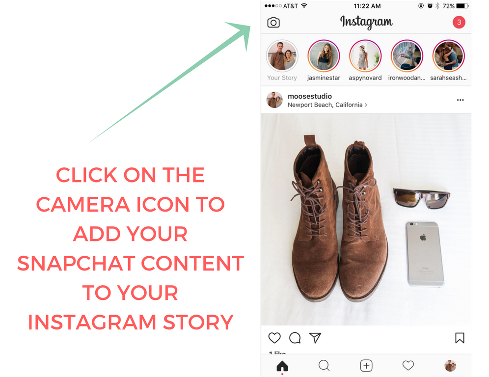 How To Add Your Snapchat Story To Instagram